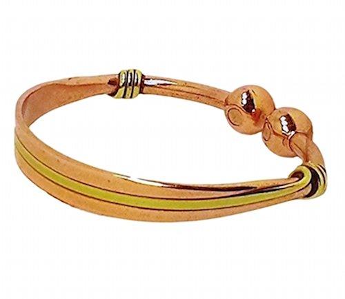 (Excel Womens Solid Copper Magnetic Bracelet Zoe Medium Gift Box)