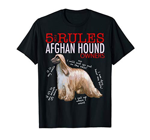 5 Rules for Afghan Hound Owners tee shirt T-shirt Tshirt ()