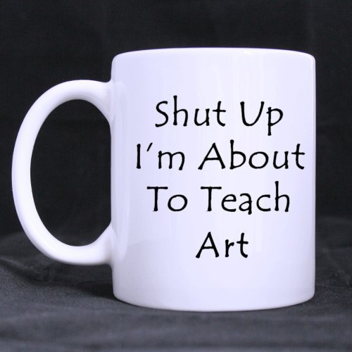 White Mug - Design For Teacher Cute Funny