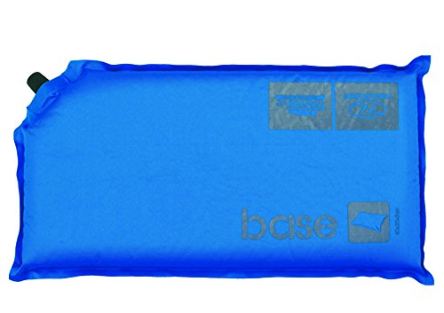 Highlander Outdoor Base Self Inflate Pillow, Blue