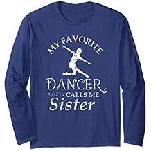 Womens Vintage Dancer Sister Long Sleeve T-Shirt Sister Flou