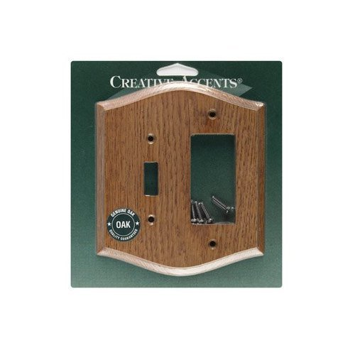 Creative Accents Wood Wall Plate - Country Oak Wood Combination Wall Plate