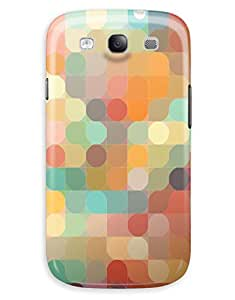 Colourful Circles in Squares Case for your Galaxy S3