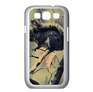 Squirrel In Tree Watercolor style Cover Samsung Galaxy S3 I9300 Case (Wild Watercolor style Cover Samsung Galaxy S3 I9300 Case)