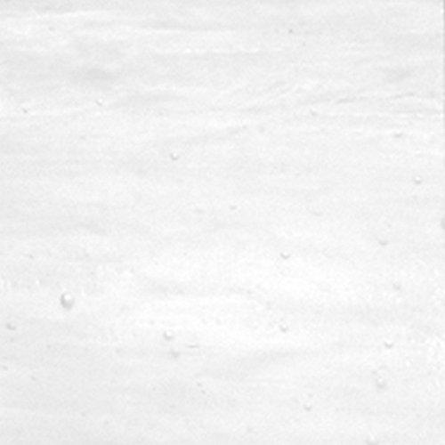 White, Clear, Wispy Iridescent Wissmach Stained Glass Sheet - 8