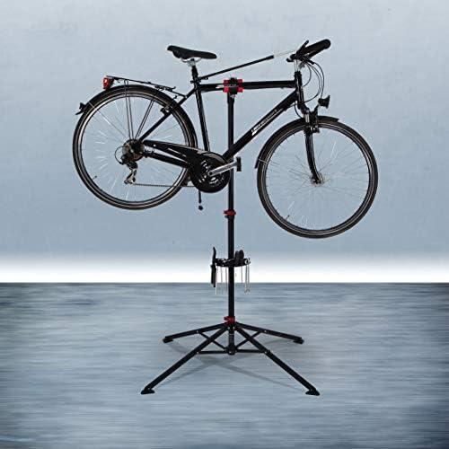 Añadiendo al carrito...Añadido a la cestaNo añadidoNo añadidoUltrasport Caballete para Bicicleta, Caballete de Montaje Estable, para Reparaciones en Todos los Modelos de Bicicletas, Tensor Quicklock, Bandeja de Herramientas magnética, máx. 30 kg