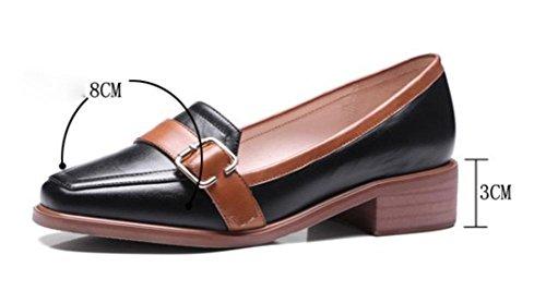 scarpe signora primavera e autunno scarpe tacco basso con spessi della bocca poco profonda scarpe single testa quadrata , US5.5 / EU35 / UK3.5 / CN35