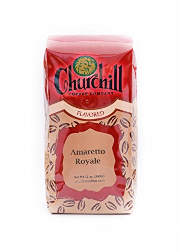 Churchill Coffee Amaretto Royal 12 oz - Whole Bean