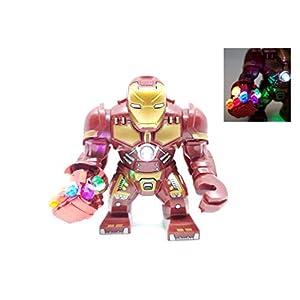 BlingBlingBrick – Big Size Iron Man Hulkbuster Figure with LED Nano Gauntlet – Marvel