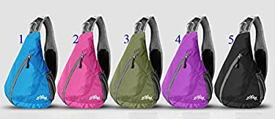 WATERFLY Packable Shoulder Backpack Sling Chest CrossBody Bag Cover Pack Rucksack for Bicycle Sport Hiking Travel Camping Bookbag Men Women
