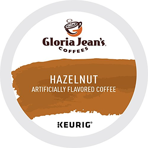 Gloria Jean's Hazelnut Keurig Single-Serve K-Cup Pods, Medium Roast Coffee, 72 Count (6 Boxes of 12 Pods) (Packaging may (Hazelnut Flavored Fresh Roasted Coffee)