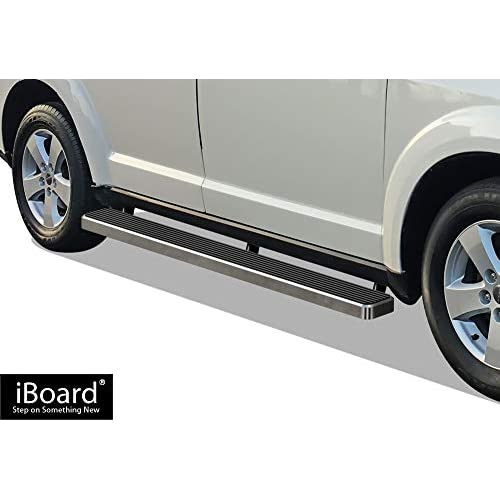 "APS iBoard Running Boards 6"" Custom Fit 2009-2018 Dodge Journey Sport Utility 4-Door (Nerf Bars 