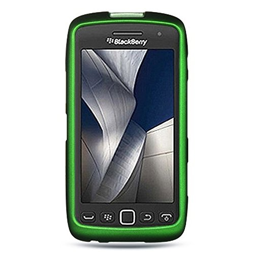 Luxmo CRBB9570GR Unique Durable Rubberized Crystal Case for BlackBerry Torch 9850/9860/Monza/Storm 3 - Retail Packaging - Green (Case Storm Blackberry)