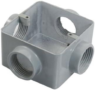 Aexit G1 Caja de empalme de cables del circuito de montaje empotrado de cuatro orificios (model: C4840IV-1387DH) de metal doméstico: Amazon.es: Bricolaje y herramientas