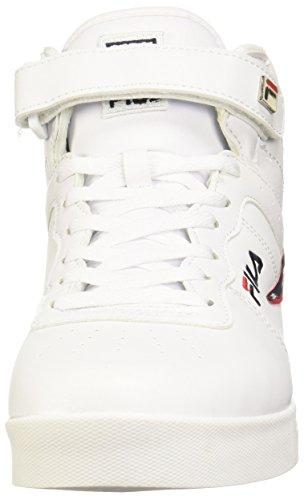Fila Hombres Vulc 13 Más 2 Mediados Caminar Zapato Blanco / Azul Marino Fila / Fila Roja-125 Outlet Donde puedes encontrar Buena venta barata Tienda de liquidación de envío gratis mtzgFQUB