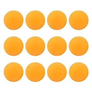 Sports Plastik Orange Table Tennis Ping Pong-Bälle, 40 mm Durchmesser, 12 Stück