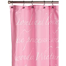 "Disney Princess Timeless Elegance 72"" x 72"" Pink Fabric Shower Curtain"
