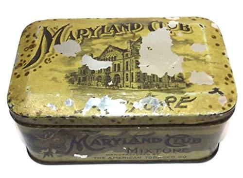 Antique Maryland Club Mixture Smoking Pipe Tobacco Advertising Tin ()