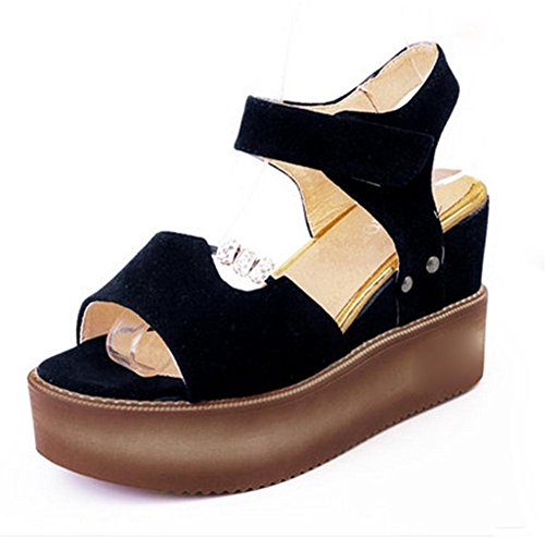 pengweiSummer thick sandals ladies slope with high heels casual shoes b7FTmRwwVx
