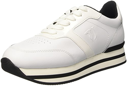 Trussardi Sneaker a Donna 79s044xx53 Collo Bianco Jeans Basso Z8rxAZ