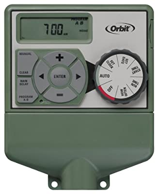Orbit Irrigation Products Sprinkler System 4-Station Standard Indoor Mounted Control Timer, 1