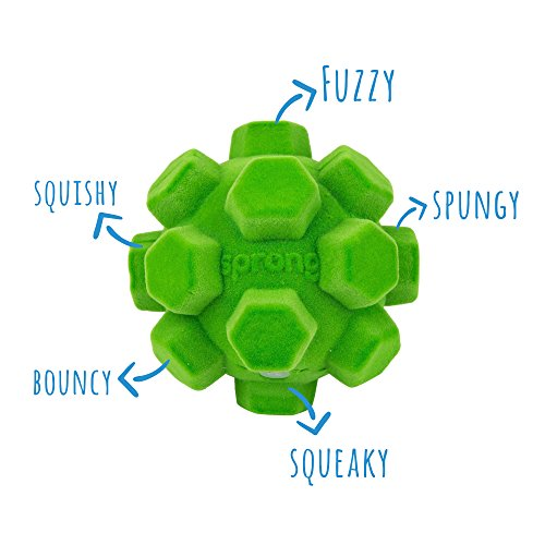 Pet Craft Supply The Original Classic Sprong Ball Interactive Dog Toy – Bouncy Soft Super Squeaky Dog Ball for Large…