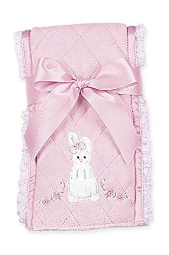 Bunny Bearington Collection (Bearington Baby Cottontail Bunny Burp Cloth (Pink), 14