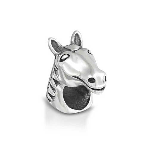 Horse Head Equestrian Charm Bead For Women Teen Cow 925 Sterling Silver Fits European Bracelet