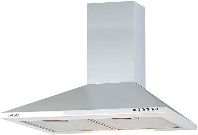 CATA V 600 WH 420 m³/h De pared Blanco C - Campana (420 m³/h, Canalizado/Recirculación, E, E, D, 65 dB): Amazon.es: Grandes electrodomésticos