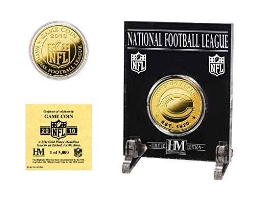 (Highland Mint NFL Chicago Bears Chicago Bears 24KT Gold Game Coin)