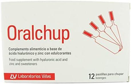 Oralchup Complemento Alimenticio Con Ácido Hialurónico y Zinc, 12Uds