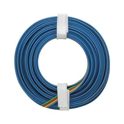 Vierling fil: 0,14mm Alimentation supplémentaire un anneau Carrera Go Bleu Jaune Rouge Vert 5m