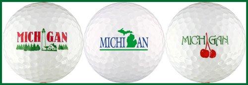 ミシガン州さまざまなゴルフボールギフトセット B000T3L0SO