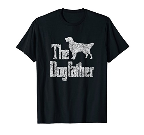 Retriever Golden Silhouette - The Dogfather t-shirt, Golden Retriever silhouette, dog gift