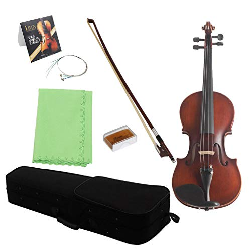 MagiDeal Violin Fiddle Set Violin Bow Rosin Storage Bag String Fittings for Students - 1/2 by non-brand