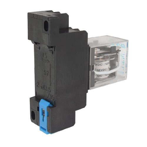 Sonline 12V DC Coil Power Relay DPDT LY2NJ HH62P-L JQX-13F 10A With PTF08A Socket - Numbers Edgars Contact
