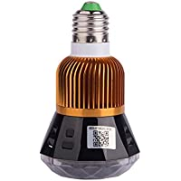 DINOX Home Security 1080P 12MP HD WiFi LED Lamp Bulb Motion Activated Wireless IP P2P CCTV Security Video DVR