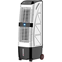 SL&LFJ Mini portable air-conditioning fan,4 caster wheels refrigerator home small personal air-conditioning mobile tower dormitory cooling fan-White