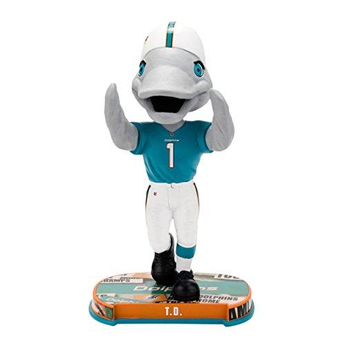 FOCO Miami Dolphins Mascot Headline Bobble - Miami Dolphins Mascot