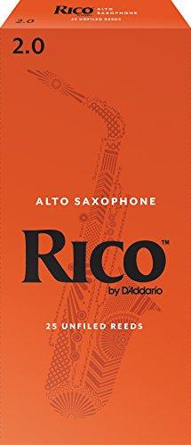 DAddario Woodwinds Alto Sax Reeds, Strength 2, 25-Pack RJA2520