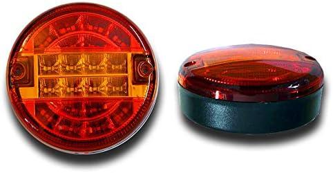 SET OF 2 x 12V E-MARKED HAMBURGER LED REAR LIGHTS TAIL LAMPS TRUCK VAN LORRY PICKUP CAMPER ATV CARAVAN TRAILER MOTORHOME CAR HORSE BOX 4x4 OFF ROAD UNIVERSAL USAGE