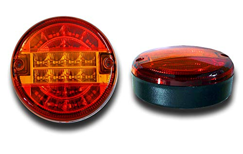 SET OF 2 x 24V E-MARKED HAMBURGER LED REAR LIGHTS TAIL LAMPS TRUCK WAGON LORRY TRAILER BUS TRACTOR CHASSIS UNIVERSAL USAGE