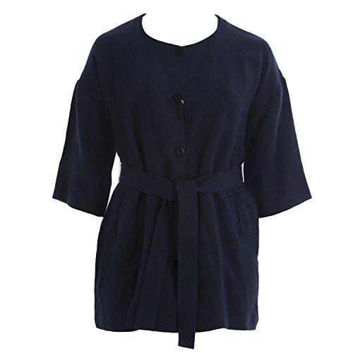Marina Rinaldi Women's Flash 1/2 Sleeve Belted Jacket 12W / 21 Navy
