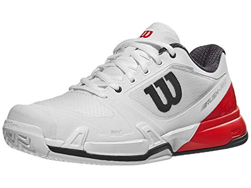 Wilson Rush Pro 2.5 Men's Tennis Shoes White/Fiery Red/Ebony (11 D(M) US)