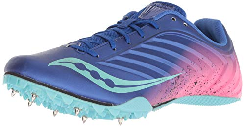 Saucony Women's Spitfire 5 Track Shoe Blue/Pink 8 Medium US