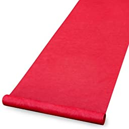 Hortense B. Hewitt Wedding Accessories Red Aisle Runner