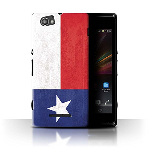 Texas A&m Pattern - STUFF4 Phone Case/Cover for Sony Xperia M/C1905 / Texas Design/Vintage USA State Flag Collection