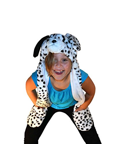 Dalmatian dog_Warm Cap Mittens Scarf(US Seller)Animal Hat Winter Hat Fluffy