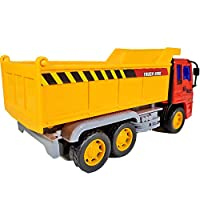 ANJ Kids 2019 Holiday Construction Toys Series - Dump Truck, Concrete Mixer Toy Truck, Crane and Lift Crane Toy Trucks - Friction Powered Car Toys