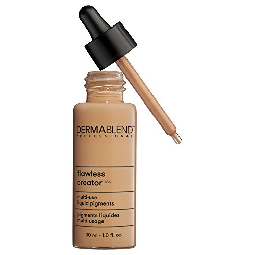 Dermablend Flawless Creator Multi-Use Liquid Foundation Makeup, Full Coverage Foundation, 1 Fl. Oz., 43N: For medium skin with neutral undertones (Best Full Coverage Mineral Foundation For Oily Skin)